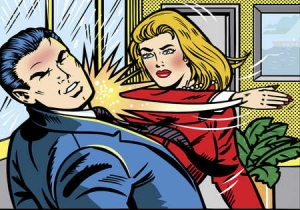 thumbs woman slapping man Web Sites