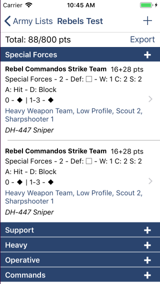 Two commands teams with snipers